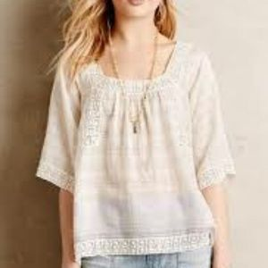 Anthropologie Cotton Top